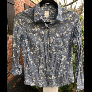 GAP Toile Patterned Lightweight Button Down